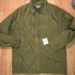 💥5 for $25💥 Green snap button coat size medium